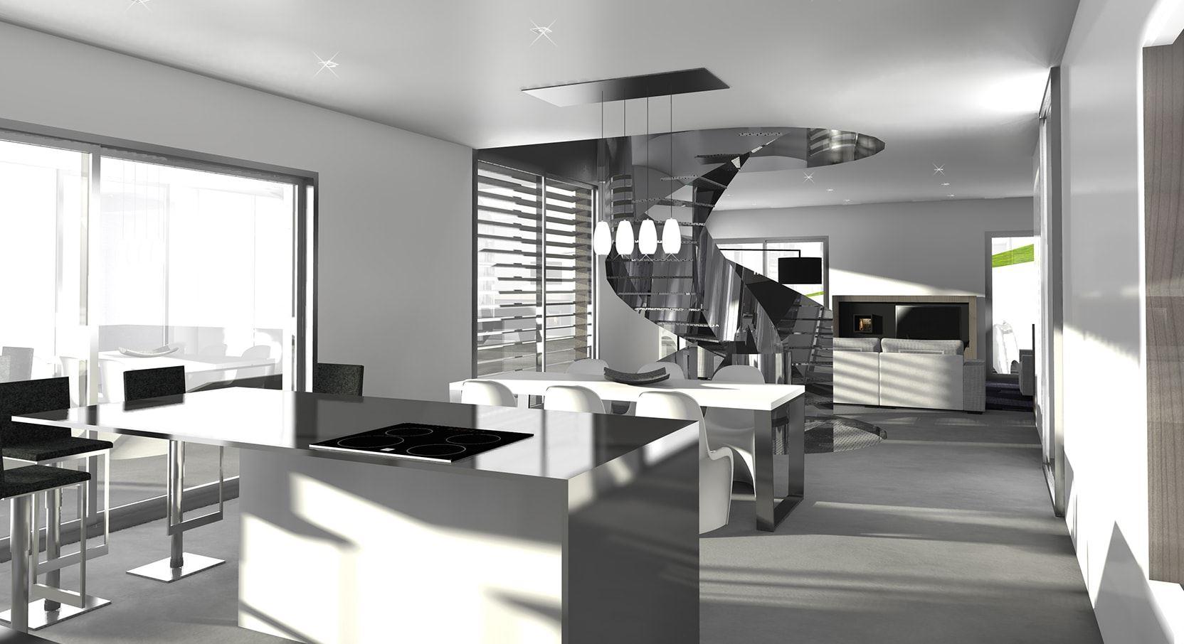 maison d architecte lyon great maison forme module ultra moderne prs de lyon with maison d. Black Bedroom Furniture Sets. Home Design Ideas